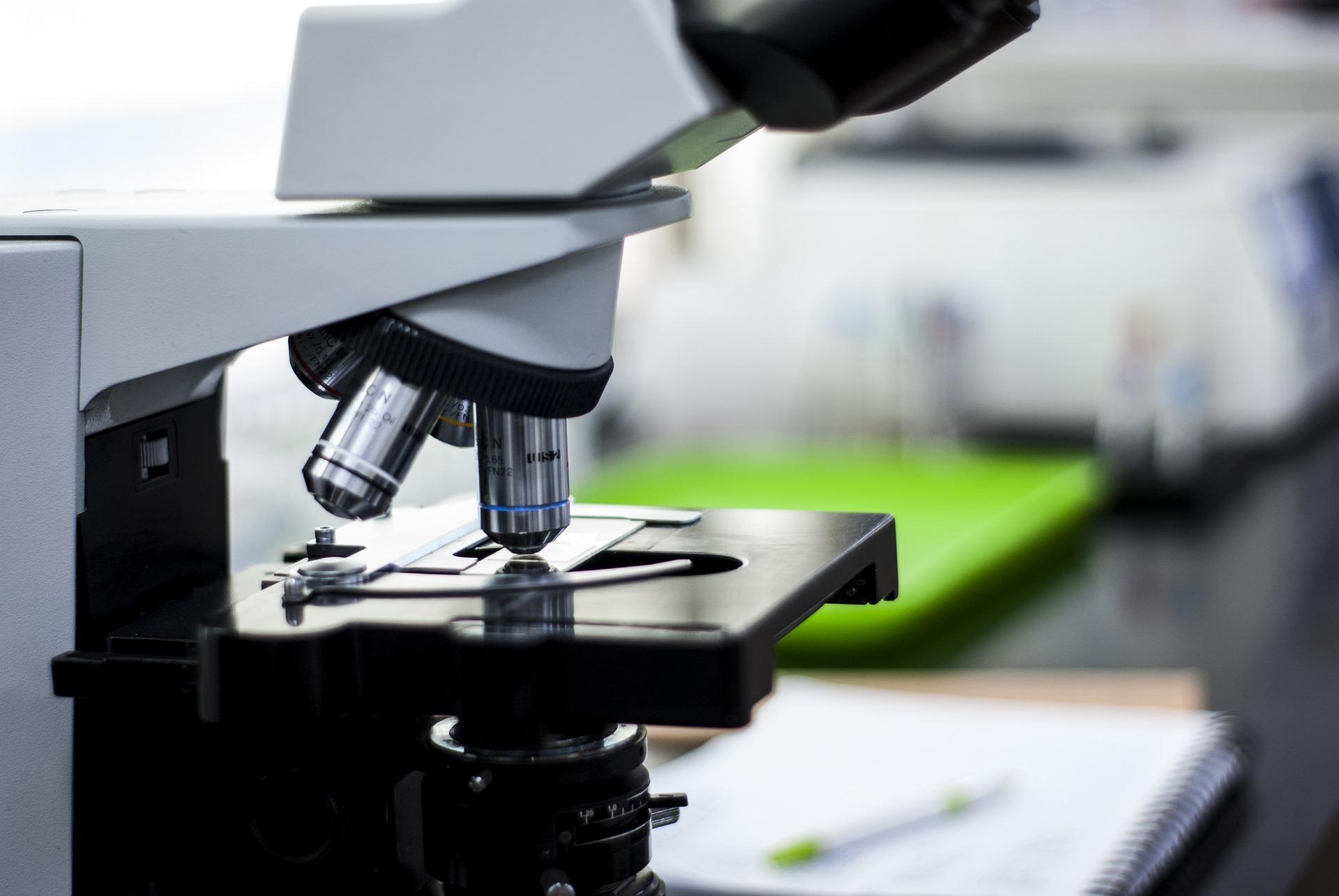 microscope setup for a user
